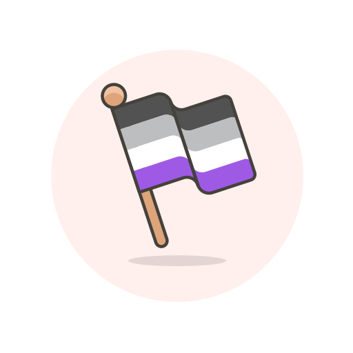 asexual, flag, stick icon