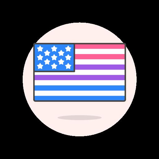 bisexual, flag, usa icon