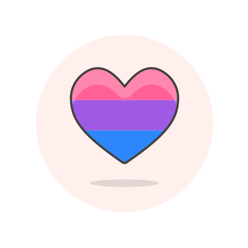 bisexual, flag, heart icon