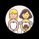 gowns, lesbian, wedding
