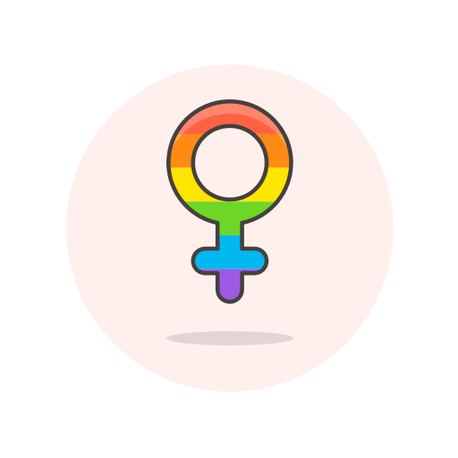 female, lgbtq, sign icon