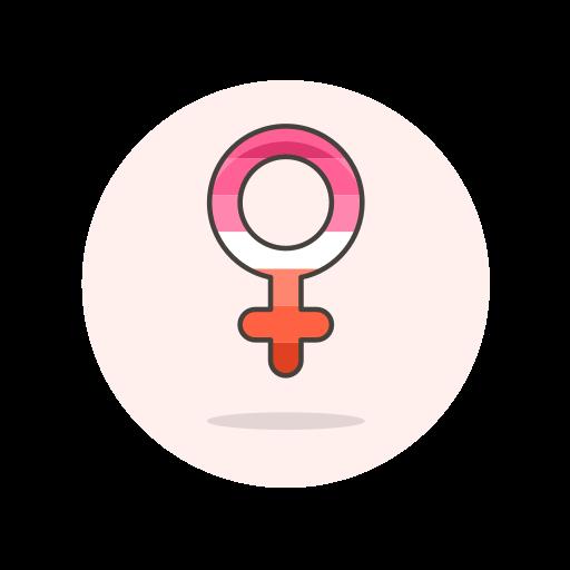 female, lesbian, sign icon
