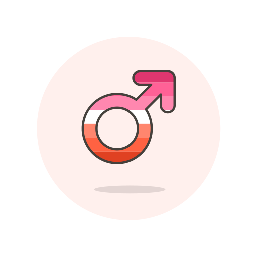 lesbian, male, sign icon