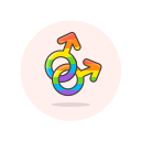 gay, lgbtq, male, sign icon