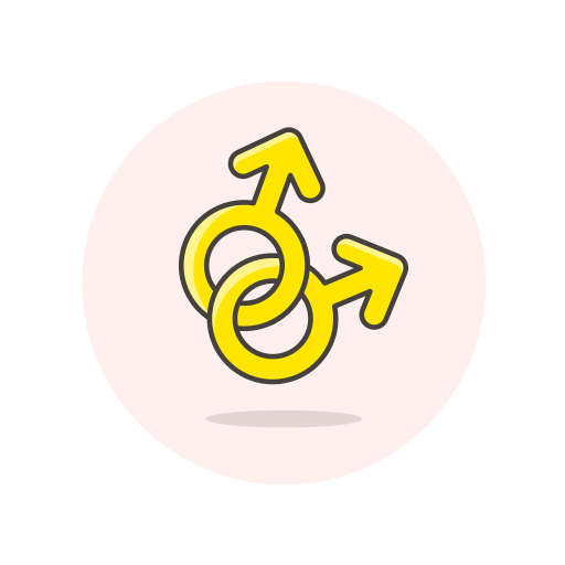 gay, male, sign icon
