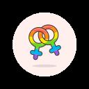 female, lesbian, lgbtq, sign icon
