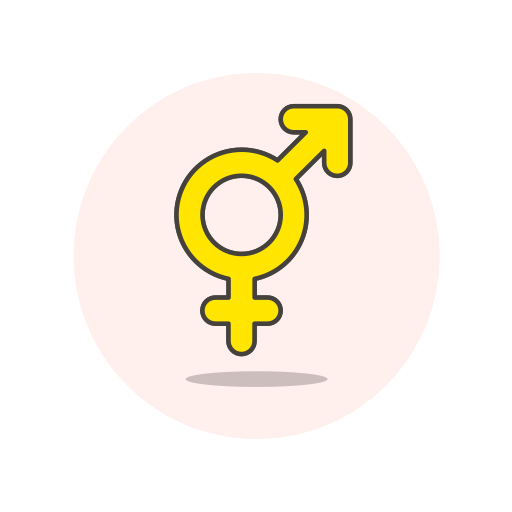 bisexual, sign icon