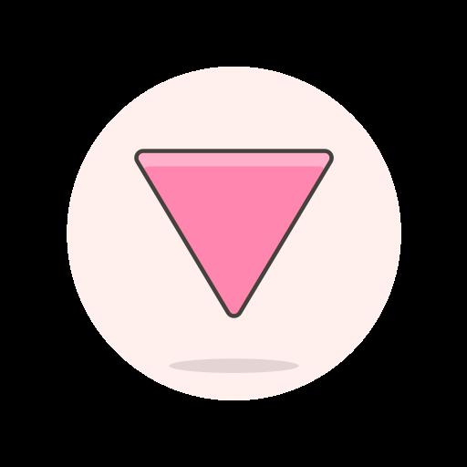 lesbian, sign, triangle icon