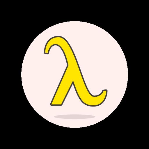 lambda, sign icon