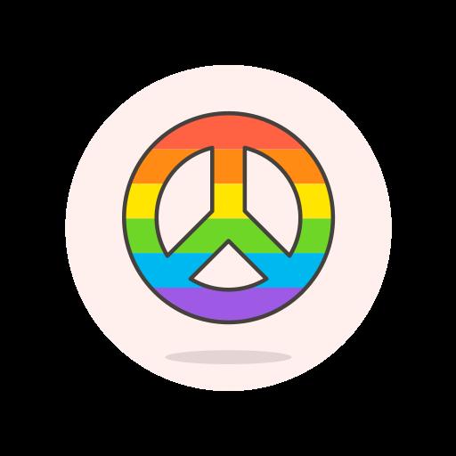 lgbtq, peace, sign icon