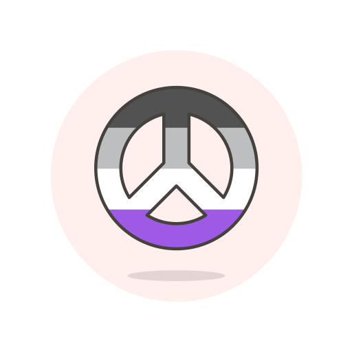 asexual, peace, sign icon