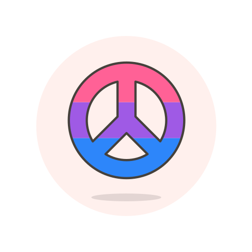 bisexual, peace, sign icon