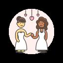 dance, gawns, lesbian, wedding icon