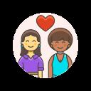 couple, lesbian, love icon