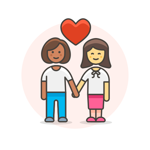 couple, hands, hold, lesbian, love icon