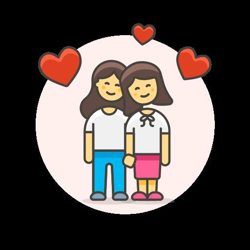 couple, head, lesbian, love, to icon