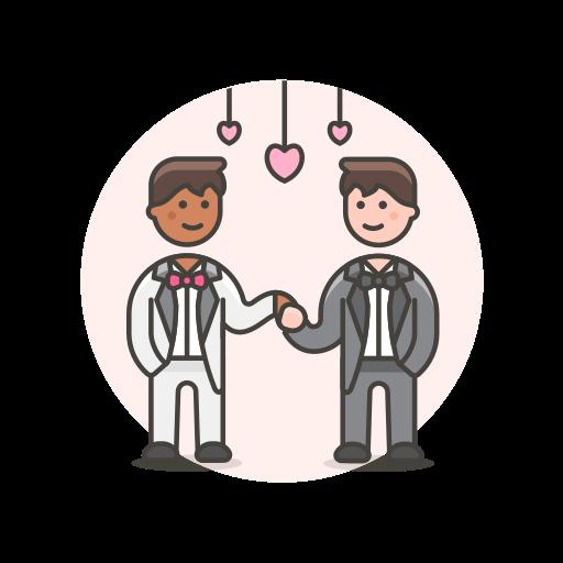 dance, gay, wedding icon