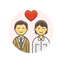 couple, gay, love icon