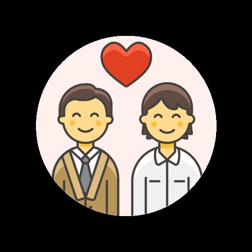 couple, gay, love icon