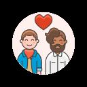 couple, gay, love