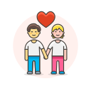 couple, hold, gay, hands