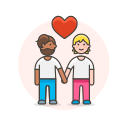 couple, gay, hands, hold icon