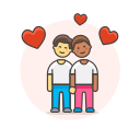 couple, gay, head, to