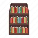 book, bookcase, bookshelf, education, furniture, interior, library icon