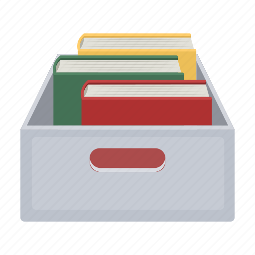 book, box, document, file, folder, paper, repository icon