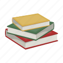 book, education, knowledge, library, reading, stack, textbook icon