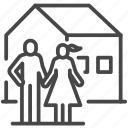 cycle, family, growing, growth, home, house, life icon
