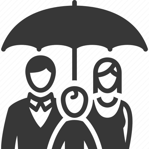 family insurance, life insurance, protection, umbrella icon
