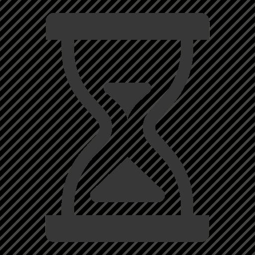deadline, hourglass, term life insurance icon