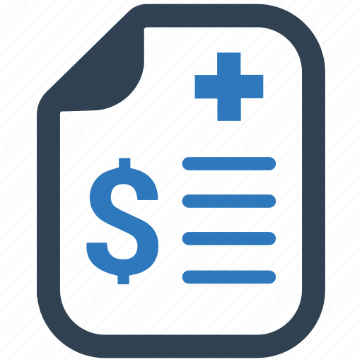 bill, contract, document, insurance policy icon