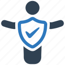 care, insurance, life, protection, safety, security icon