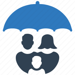 family insurance, life insurance, parents, protection, umbrella icon
