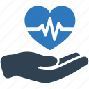 cardiogram, heart care, heart health, medical help icon