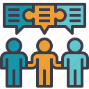chat, conversation, discussion, negotiation, partners, talk icon