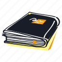 book, close, dictonary, notebook, paperback icon