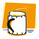 beverage, coffee, cup, drink, hot, mark, tea icon