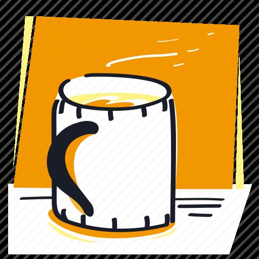 beverage, coffee, cup, drink, hot, mark, tea icon