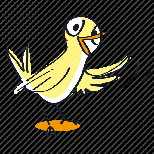 animal, bird, cute, little icon