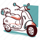 moto, motorcycle, scooter, automobile, motorbike, vehicle icon