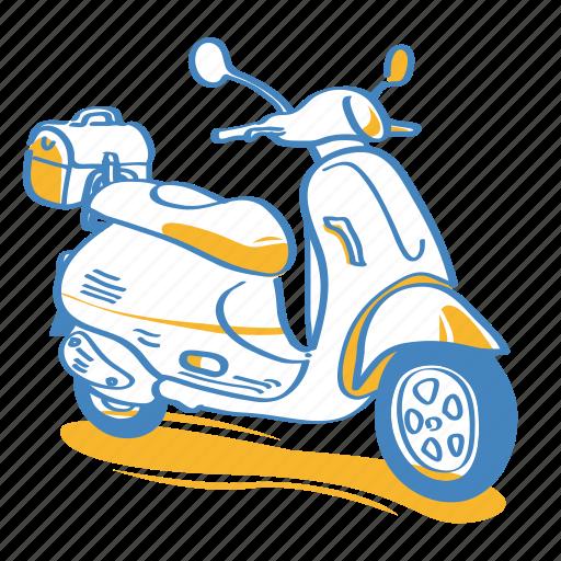 automobile, moto, motorbike, motorcycle, scooter, vehicle icon