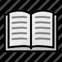 book, lifestye, reading icon