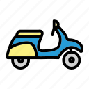 lifestye, motorbike, motorcycle, scooter icon