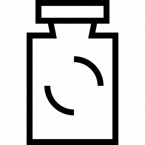 bottle, container, liquid, plain icon