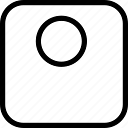 bowl, circle, square, table icon