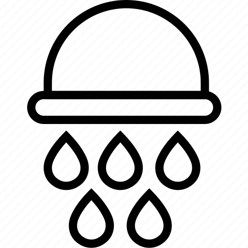 droplets, head, shower, water icon