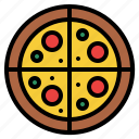 food, lifestyle, pizza, restaurant icon